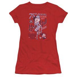 Betty Boop Boop Ball Short Sleeve Junior Sheer T-Shirt