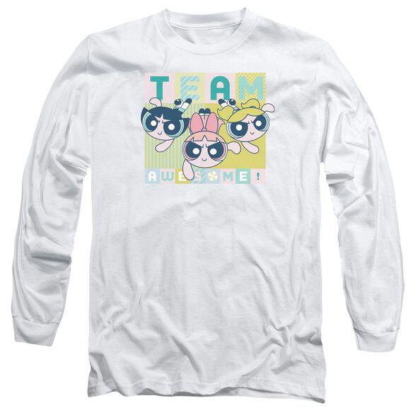 Powerpuff Girls Awesome Block Long Sleeve Adult T-Shirt