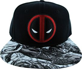 Deadpool Logo Visor Sketch Hat