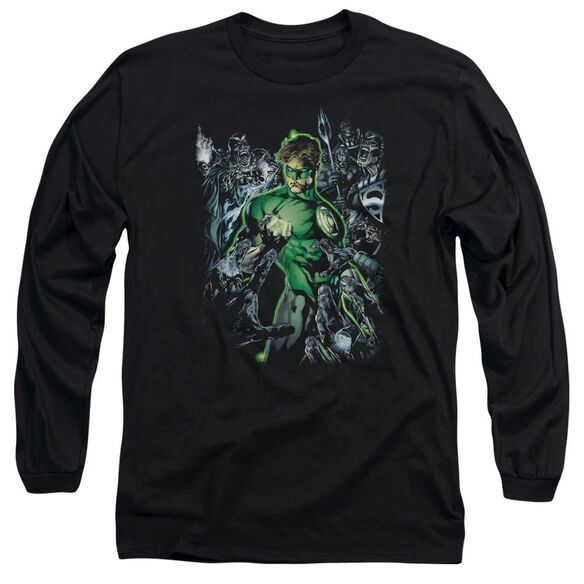 Green Lantern Surrounded By Death Long Sleeve Adult T-Shirt