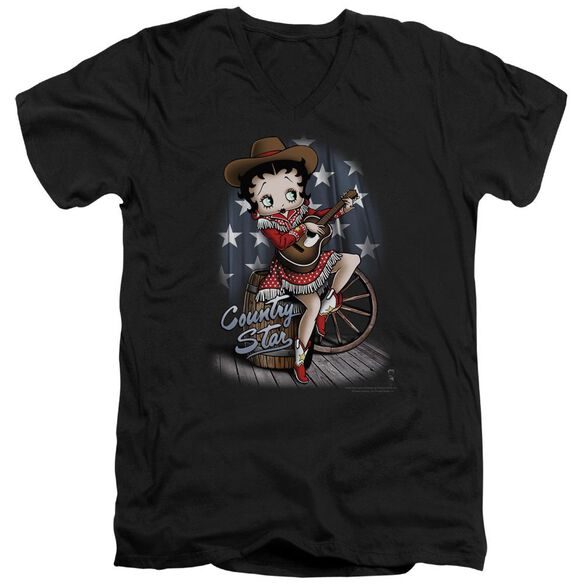 Betty Boop Country Star Short Sleeve Adult V Neck T-Shirt