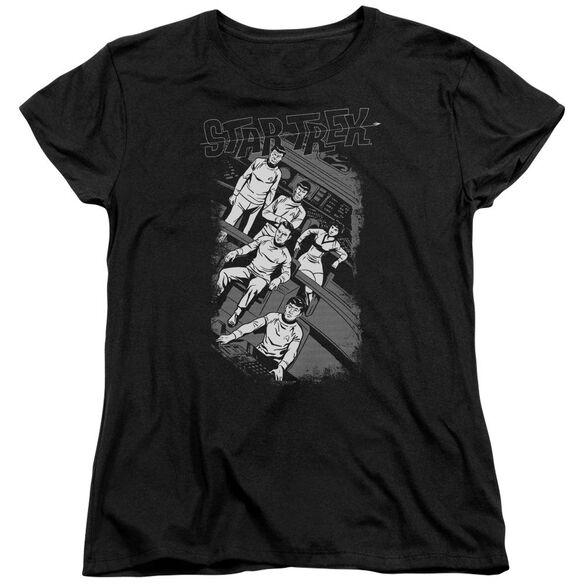 Star Trek Retro Tilted Bridge Short Sleeve Women's Tee T-Shirt