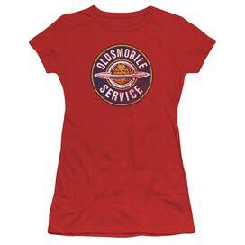 Oldsmobile Vintage Service Short Sleeve Junior Sheer T-Shirt