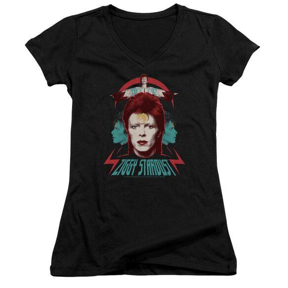 David Bowie Ziggy Heads Junior V Neck T-Shirt