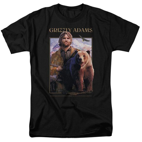 Grizzly Adams Collage Short Sleeve Adult T-Shirt