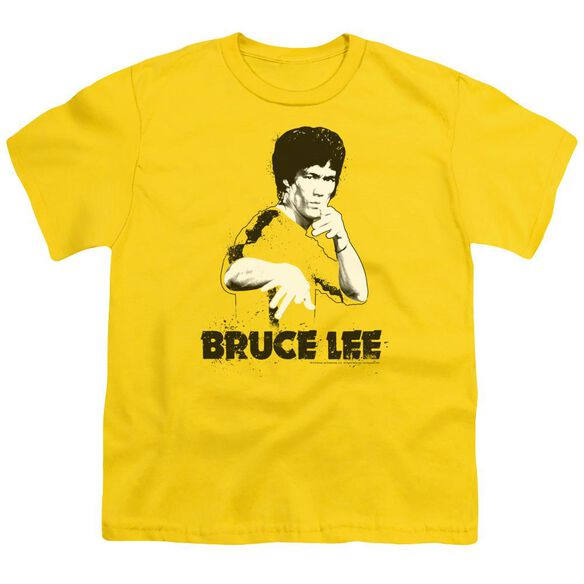 Bruce Lee Suit Splatter Short Sleeve Youth T-Shirt
