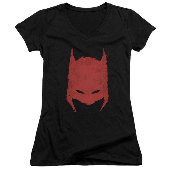 Batman Hacked & Scratched Junior V Neck T-Shirt