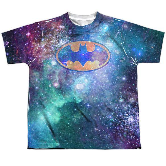 Batman Galaxy Symbol Short Sleeve Youth Poly Crew T-Shirt