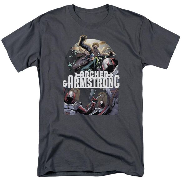 Archer & Armstrong Dropping In Short Sleeve Adult T-Shirt