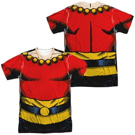 Flash Gordon Flash Costume (Front Back Print) Short Sleeve Adult Poly Crew T-Shirt