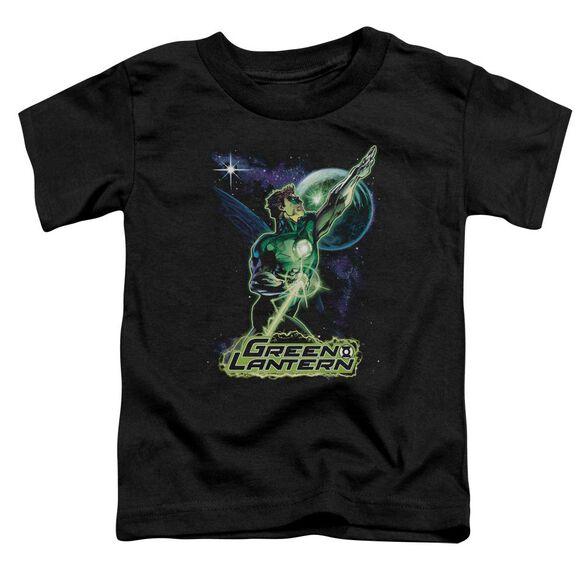 Jla Hal Galaxy Short Sleeve Toddler Tee Black T-Shirt