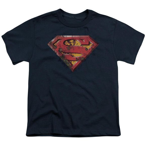 Superman Rusted Shield Short Sleeve Youth T-Shirt