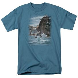 WILDLIFE THE NORTH WOODS BALD EAGLE - S/S ADULT 18/1 - SLATE T-Shirt
