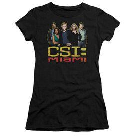CSI MIAMI THE CAST IN BLACK - S/S JUNIOR SHEER - BLACK T-Shirt