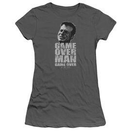 Alien Game Over Man Short Sleeve Junior Sheer T-Shirt