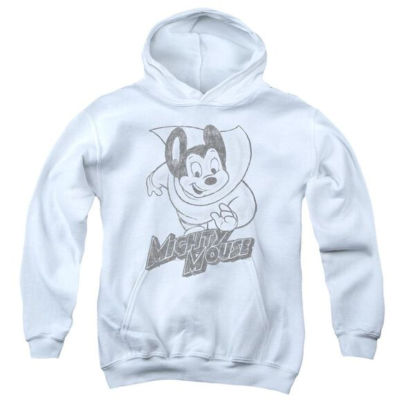 Mighty Mouse Mighty Sketch Youth Pull Over Hoodie