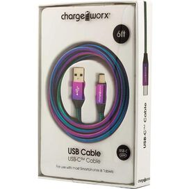 Chargeworx USB-C Cable 6ft