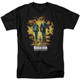 Quantum And Woody Explosion Short Sleeve Adult T-Shirt