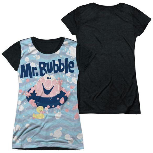 Mr Bubble Shine Short Sleeve Junior Poly Black Back T-Shirt