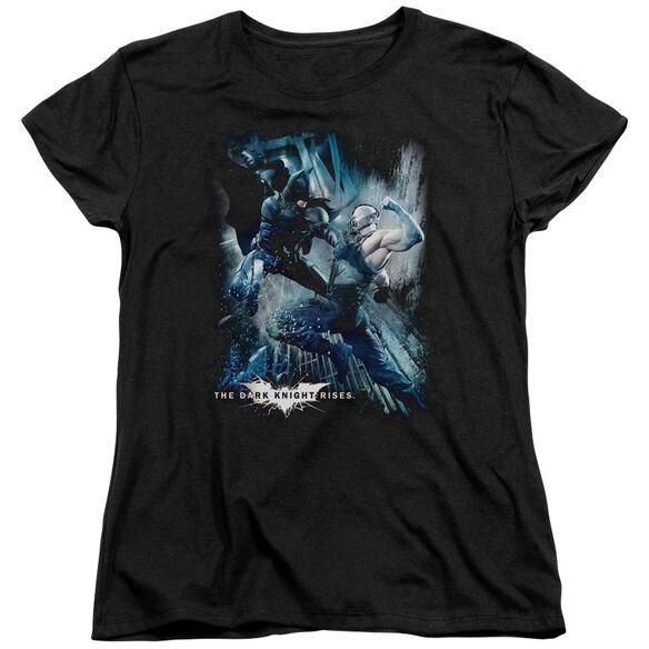 Dark Knight Rises Showdown Short Sleeve Womens Tee T-Shirt