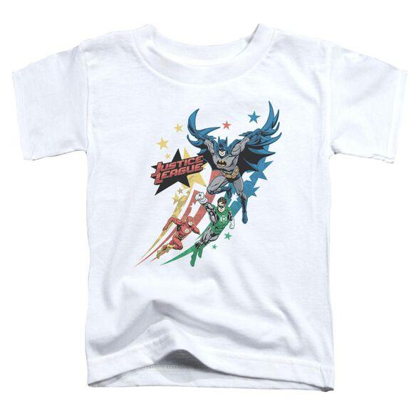 Jla Allegiance Short Sleeve Toddler Tee White T-Shirt