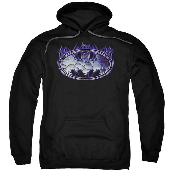 Batman Cracked Shield Adult Pull Over Hoodie