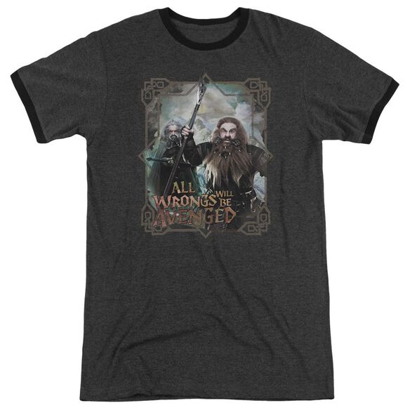 The Hobbit Wrongs Avenged Adult Heather Ringer Charcoal