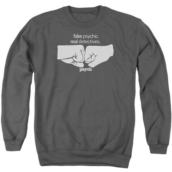 Psych Fist Bump Adult Crewneck Sweatshirt
