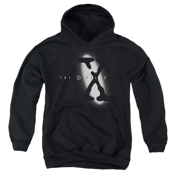 X Files Spotlight Logo Youth Pull Over Hoodie