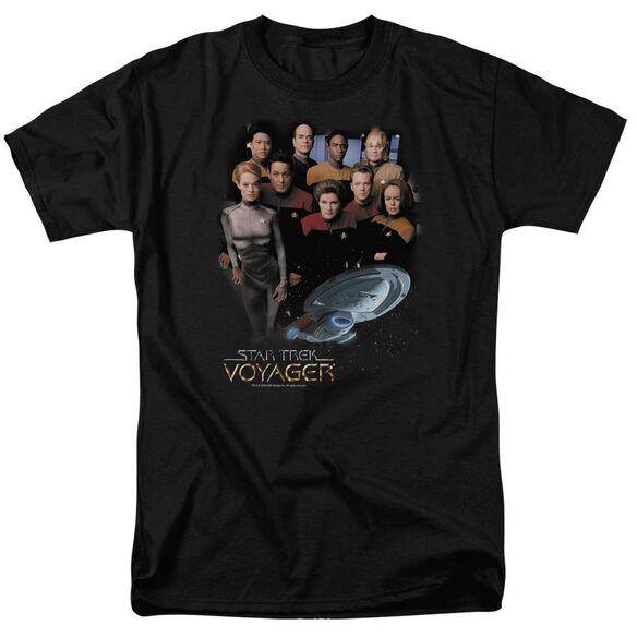 STAR TREK VOYAGER CREW - S/S ADULT 18/1 - BLACK T-Shirt