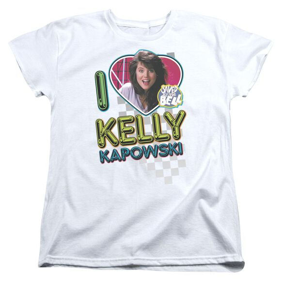 Saved By The Bell I Love Kelly Short Sleeve Womens Tee T-Shirt