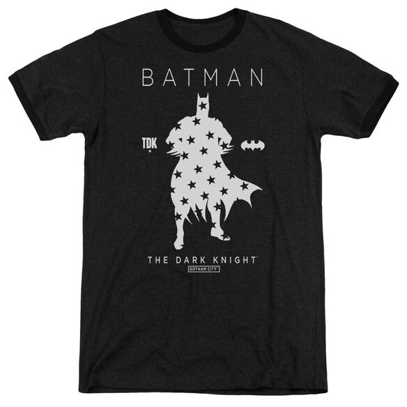 Batman Star Silhouette Adult Heather Ringer