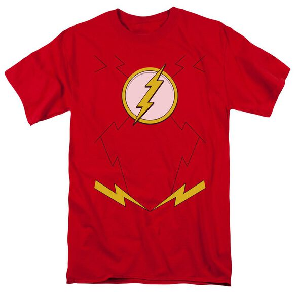 Jla New Flash Costume Short Sleeve Adult T-Shirt