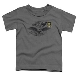 Army Left Chest Short Sleeve Toddler Tee Charcoal Md T-Shirt