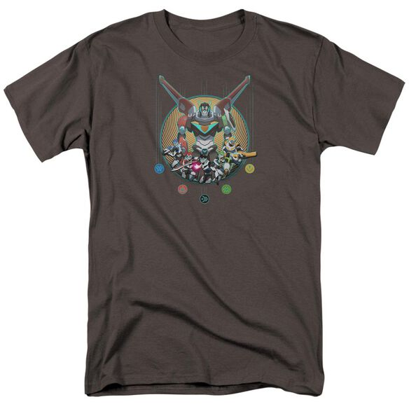Voltron Assemble Short Sleeve Adult Charcoal T-Shirt