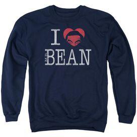 Mr Bean I Heart Mr Bean Adult Crewneck Sweatshirt