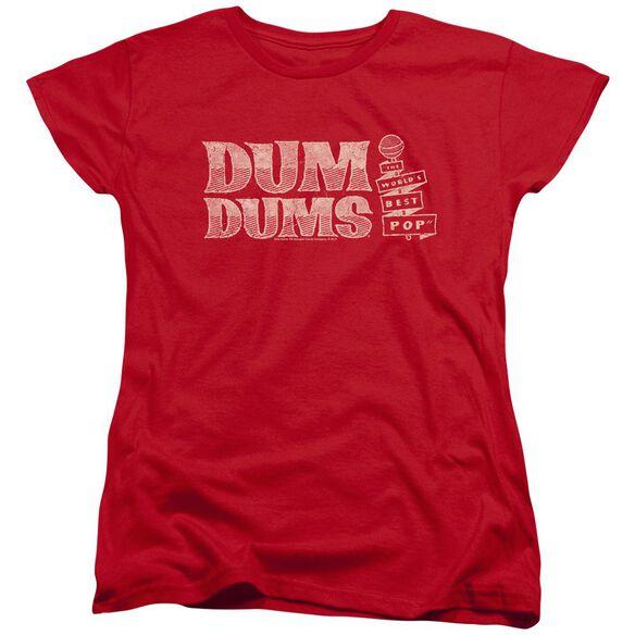 Dum Dums Worlds Best Short Sleeve Womens Tee T-Shirt