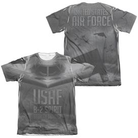 Air Force Stealth (Front Back Print) Adult Poly Cotton Short Sleeve Tee T-Shirt