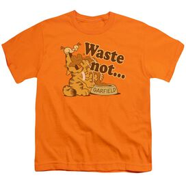 Garfield Waste Not Short Sleeve Youth T-Shirt