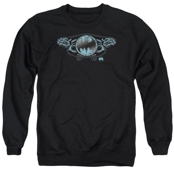 Batman Two Gargoyles Logo Adult Crewneck Sweatshirt