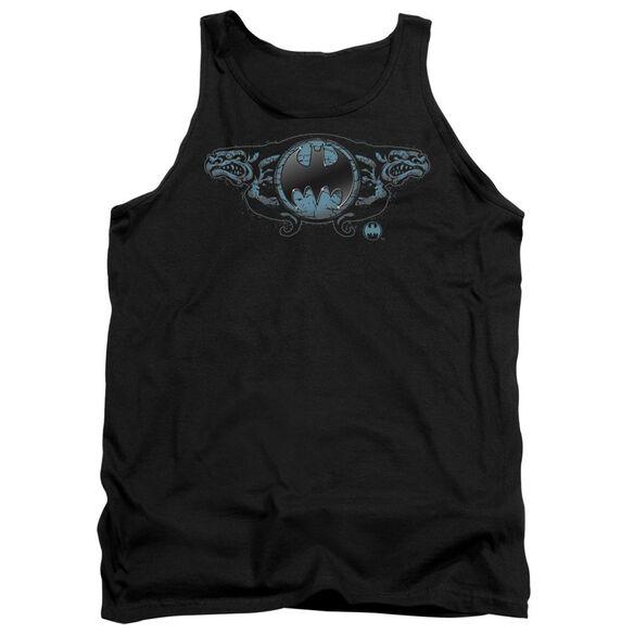 Batman Two Gargoyles Logo Adult Tank