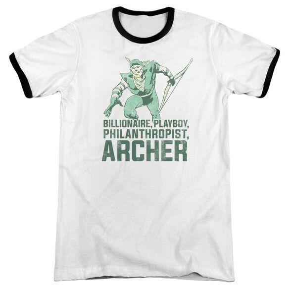 Dc Archer Adult Ringer White Black