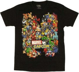 Marvel vs Capcom Team T-Shirt Sheer
