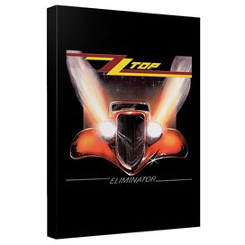 Zz Top Eliminator Cover Canvas Wall Art With Back Board