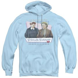 I LOVE LUCY FRIENDS FOREVER - ADULT PULL-OVER HOODIE - LIGHT BLUE
