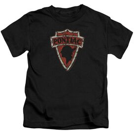 Pontiac Early Pontiac Arrowhead Short Sleeve Juvenile Black T-Shirt