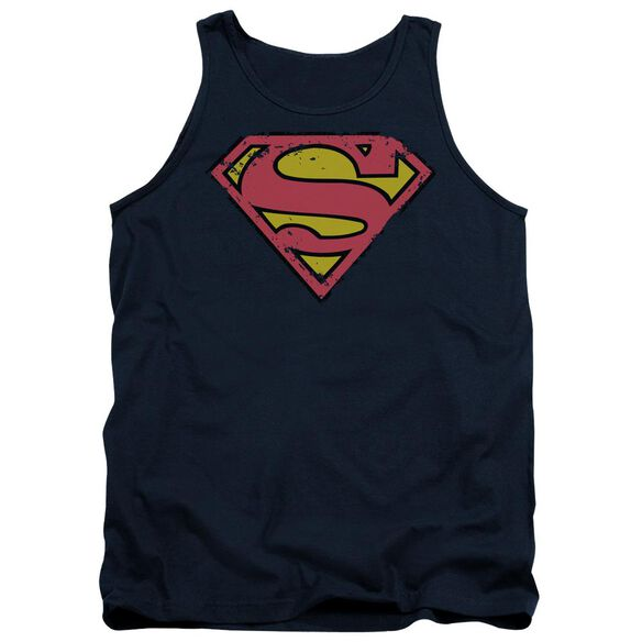 Superman Distressed Shield Adult Tank