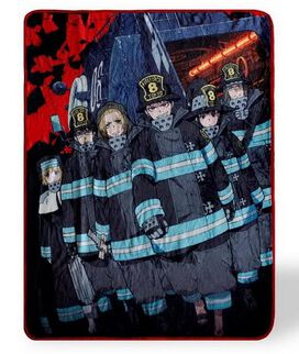 Fire Force Anime Series Plush Fleece Throw Blanket Anime Blanket, 60 x 45