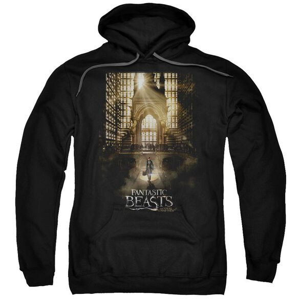 Fantastic Beasts Poster Adult Pull Over Hoodie Black