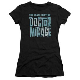 Doctor Mirage Character Logo Short Sleeve Junior Sheer T-Shirt